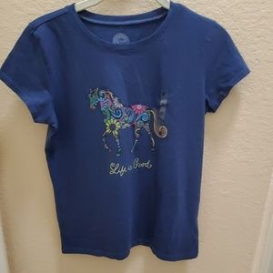 Life is Good SS shirt w horse design. NWT
